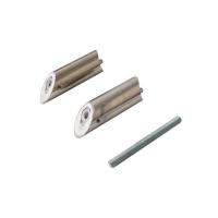 Ручка для алюминиевых дверей со смещением, L=1400, межосевое расстояние=900, D=32, шлифованная