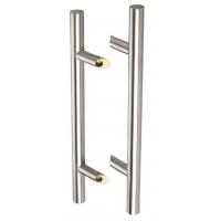 Ручка для алюминиевых дверей со смещением, комплект с креплением, L=800, межосевое расстояние=600, D=32, матовая