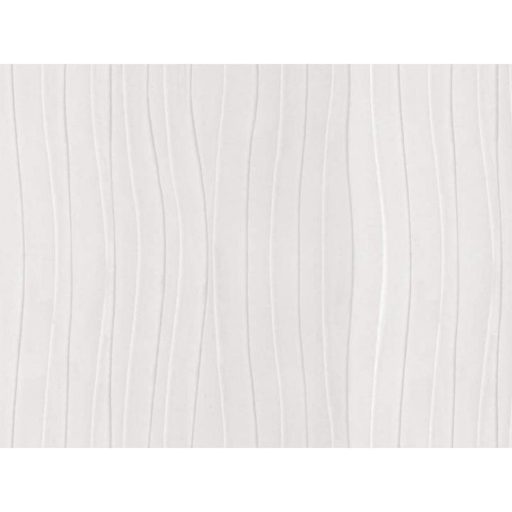 Плита МДФ AGT 1220*18*2800 мм, односторонняя, индивидуальная упаковка, глянец горизонтальный белая волна 664