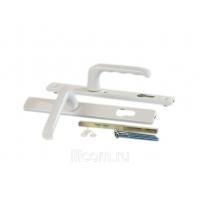 Гарнитур нажимной HOPPE сплошной, белый (для профиля 58-62 мм)