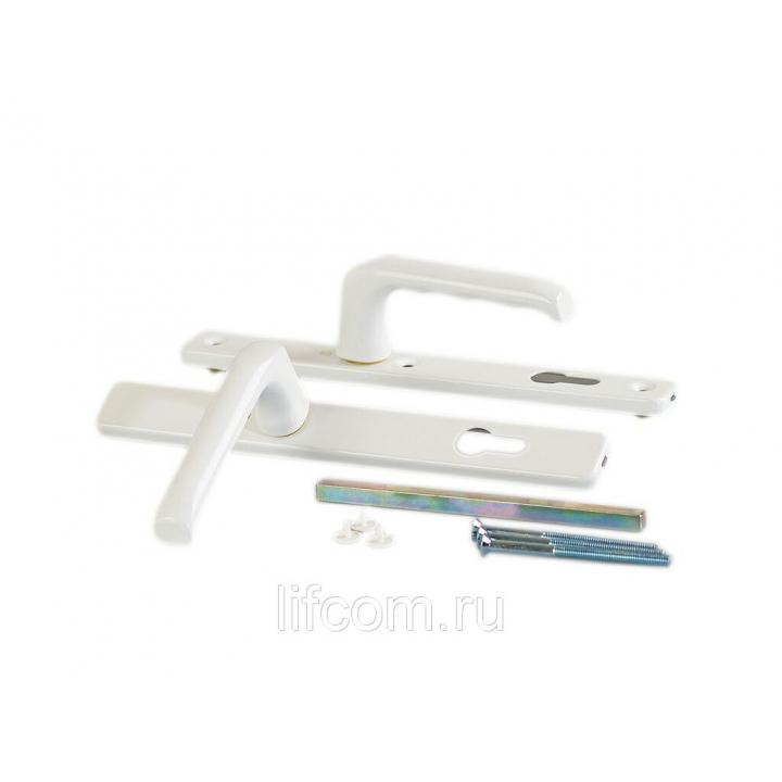 Гарнитур нажимной сплошной, HOPPE белый 32 мм (68-72)