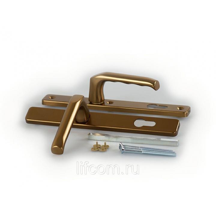 Гарнитур нажимной сплошной, HOPPE бронза, накладка 30 мм (57-62 мм)