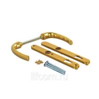 Гарнитур нажимной сплошной, HOPPE золото матовое, 24 мм