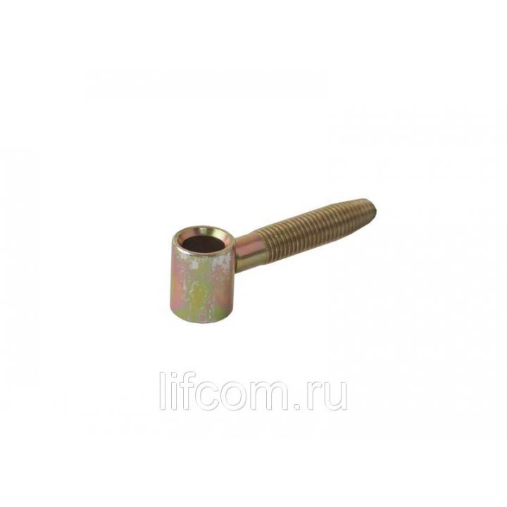 Петля ввертная, 2-штыревая, створочная часть, диаметр 14 мм, сталь, бихромат