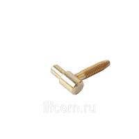 Петля ввертная, 2-штыревая, рамная часть, диаметр 14 мм, сталь, бихромат