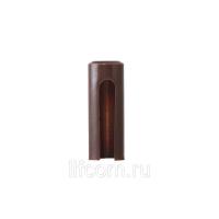 Накладка декоративная для ввертных петель, диаметр 16 мм, пластик, коричневый