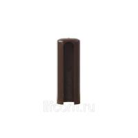 Накладка декоративная для ввертных петель, диаметр 14 мм, пластик, коричневый