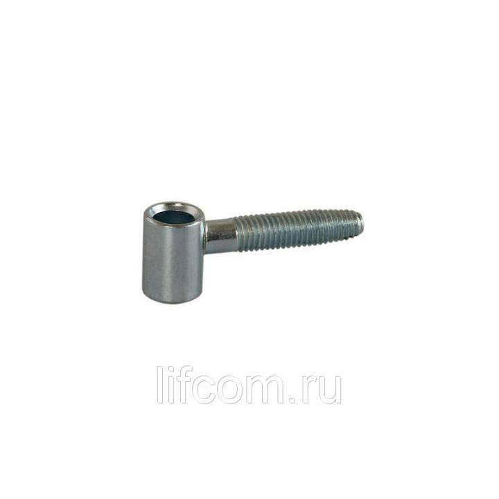 Петля ввертная, 2-штыревая, створочная часть, диаметр 13 мм, сталь, оцинкованный