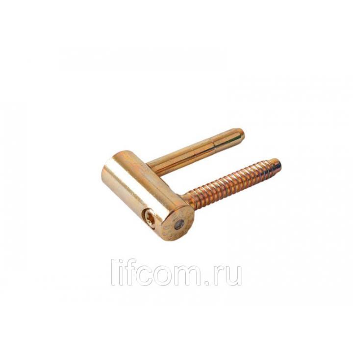 Петля ввертная, 4-штыревая, 3D, створочная часть, диаметр 16 мм, сталь, бихромат