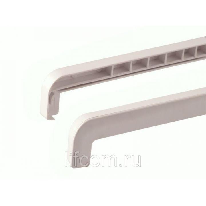 Накладка BAUSET торцевая ABS к отливу 70-180 мм левая/правая, белая