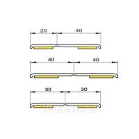 Уголок гибкий самоклеящийся Bauset RNG, 20*40, белый, 50 м