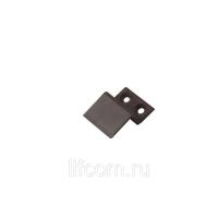 Кронштейн 10 мм ABS для МС нижний коричневый, 100 шт