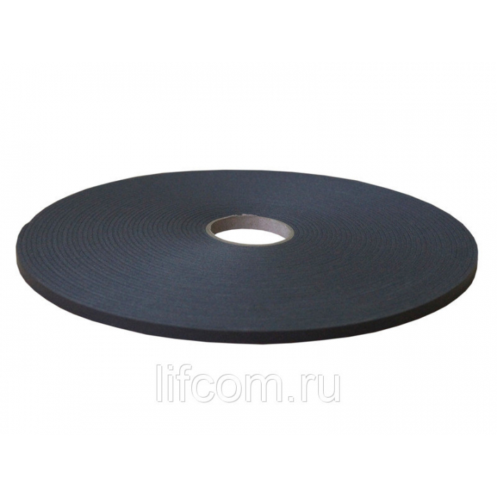 Прокладка самоклеящаяся 9x3 мм, 20 м, черная