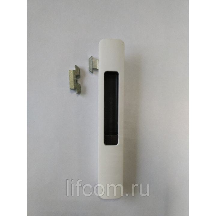 Защёлка балконная PROVEDAL со скрытым монтажом 3 части белая матовая с черным ползунком