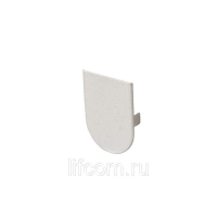 Накладка декоративная для скрытых петель, 120x30 мм, алюминий, серебро матовое
