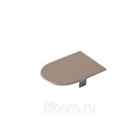 Накладка декоративная для скрытых петель, 120x30 мм, алюминий, никель матовый