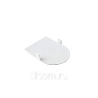 Накладка декоративная для скрытых петель, 120x30 мм, алюминий, белый, 4 шт