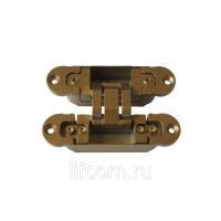 Петля скрытая, 3D, универсальная, 120x30 мм, 60 кг, цамак, специальная бронза