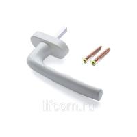 Ручка оконная Hoppe 37 мм (9016) 0960/U26 белый, (45°) +2 винта
