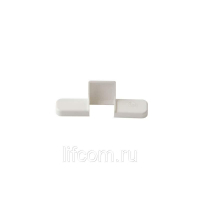Накладка декоративная среднего прижима на створку, белая