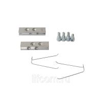 Комплект закладных пластин Giesse для крепления двухсекционных петель Domina HP New, Classic (2 закладные, 2 уса, 4 винта), 05200000N