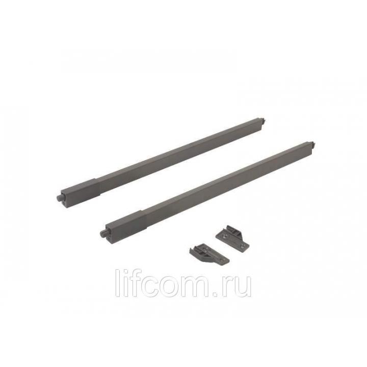 Рейлинги Firmax длина 350 мм, квадратные верхние для ящика Slimline, комплект антрацит