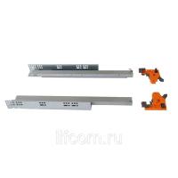 Комплект направляющих Soft-Close скрытого монтажа Firmax 3D Control L=550мм, полного выдвижения, для ЛДСП 16мм