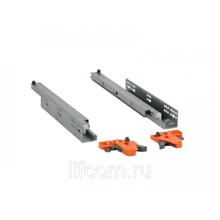 Комплект направляющих Soft-Close скрытого монтажа Firmax 3D Control L=350мм, полного выдвижения, для ЛДСП 16мм