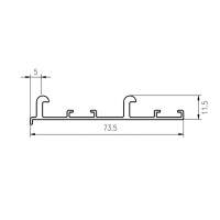 FM602 Направляющая верхняя, накладной монтаж, серебро, L=3000 мм, FIRMAX.