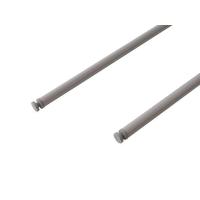 Рейлинг продольный Firmax глубина 500 мм серый, (2 рейлинга + 2 крепления)