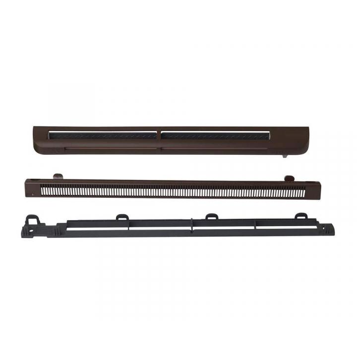 Комплект: приточное гигрорегулируемое устройство EMM2, козырек ASAM, 5-35 м3/ч, EHM1280 RU, RAL 8017 (тик)
