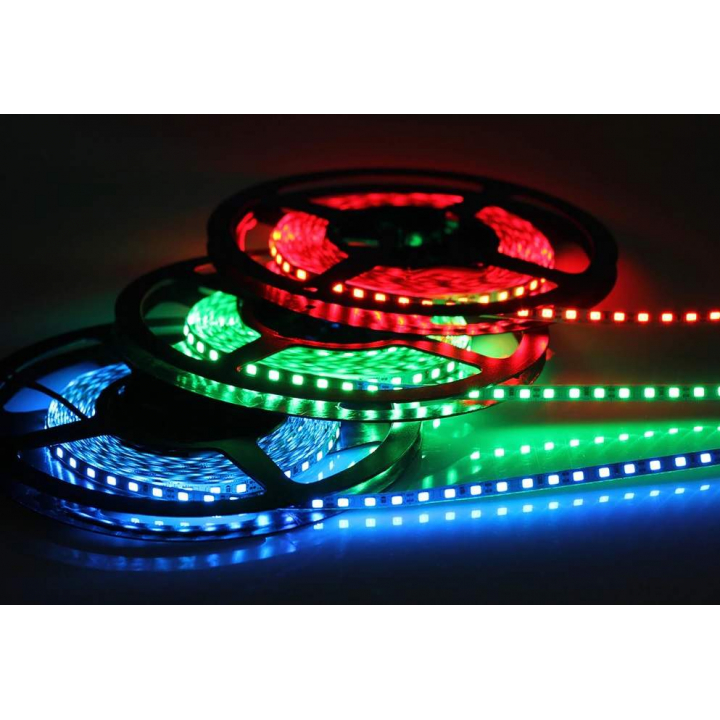 Лента светодиодная 5050/60, 12V, 5м, RGB, IP20, 14.4W/м