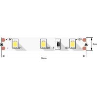 Лента светодиодная 2835/60, 12V, 5м, холодный белый 6000К, IP20, 4.8W/м