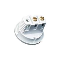 Выключатель врезной кнопочный, серый, D-27мм, 5А