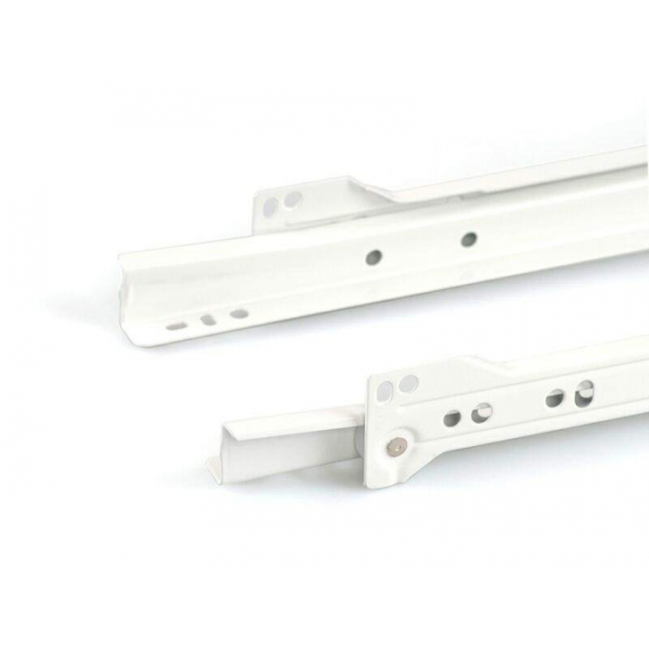 Направляющие роликовые Firmax длина 400 мм, белые, RAL9003, (4 части)