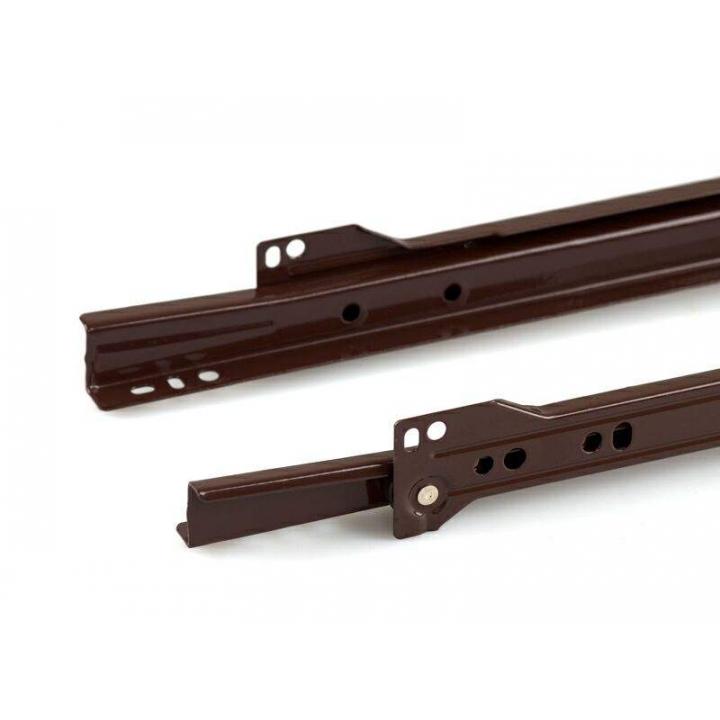 Направляющие роликовые Firmax длина 400 мм, коричневые, RAL8017, (4 части)