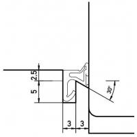 Уплотнитель для деревянных евроокон DEVENTER на наплав створки, ширина паза 3 мм, ТЭП, темно-коричневый RAL 8014, 20 м