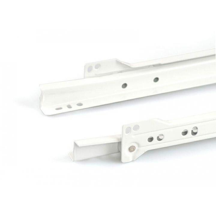 Направляющие роликовые Firmax длина 250 мм., белые, RAL9003, (4 части)