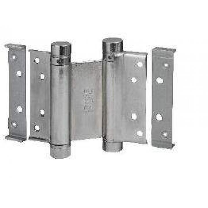 Петля барная 100 мм для деревянных дверей до 34 кг, хромированная сталь (2 петли в комплекте)