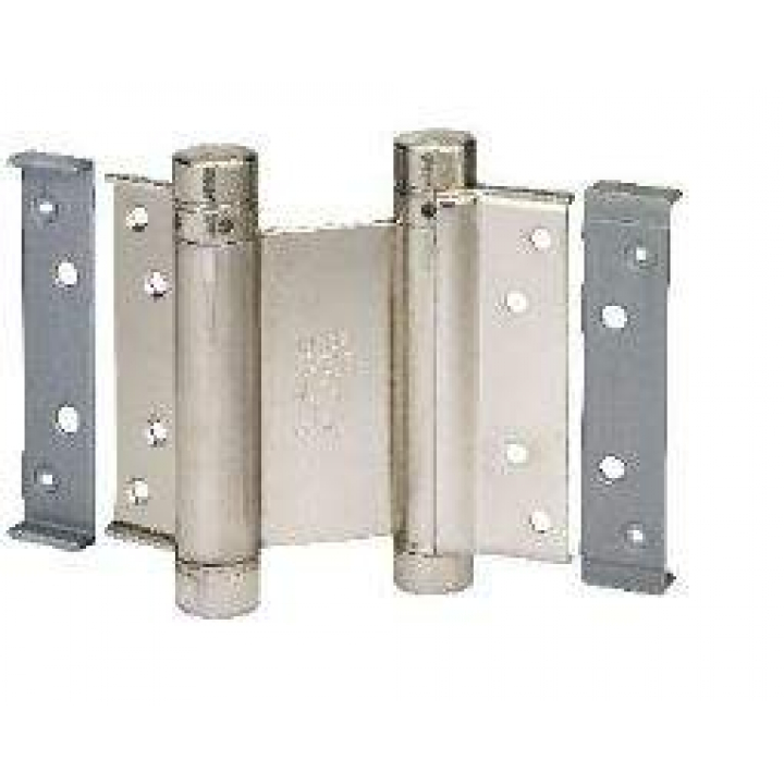 Петля барная 100 мм. для деревянных дверей до 34 кг, никелированная сталь (2 петли в комплекте)