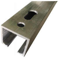 Направляющая верхняя для раздвижных дверей, длина 3 м, алюминий, неокрашенный