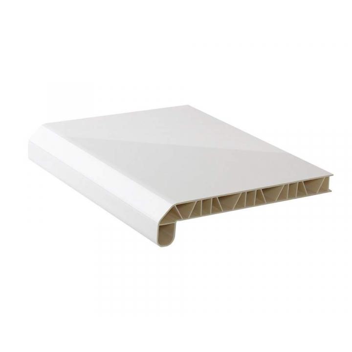Подоконник пластиковый LUX-40 /150 белый глянец