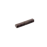 Петля для москитной сетки 82x10 мм, коричневая, 10 шт.