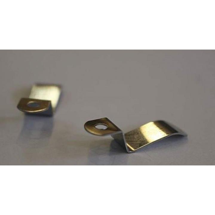 Кронштейн стальной для крепления профиля с четвертью (30х8 мм.), 10 шт