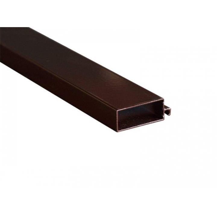 Профиль москитной сетки рамный 52x20 мм c защитной пленкой, коричневый, 5.8 м