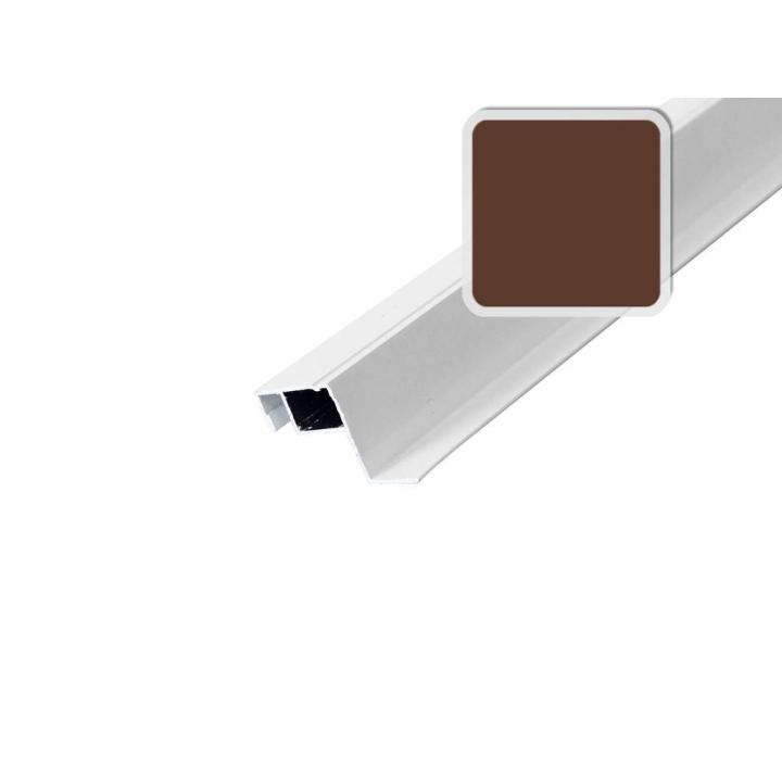Профиль москитной сетки внутренний 27х10 мм., коричневый, 5.8 м.
