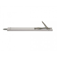 Комплект: шпингалет ELEMENTIS дверной накладной, ответная планка, саморезы, 220*22*8 мм, белый. RAL9016