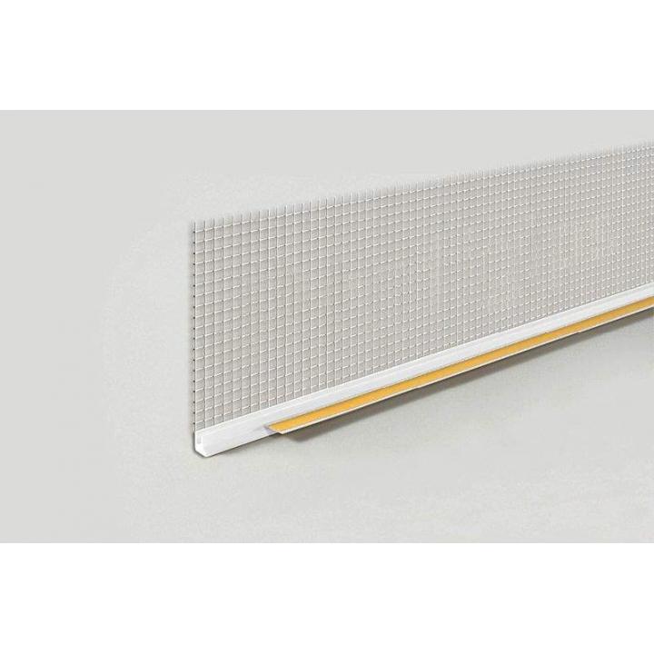 Профиль оконный примыкающий ПВХ с сеткой, белый, 6 мм, 2.4 м.