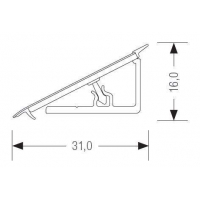 Бортик пристеночный Перфетто лайн белый премиум 78083 (W1000) (91115), 4200 мм