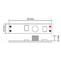 Сенсорный мини диммер для профиля, 12/24V, 3А, 36/72W